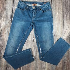 Tory Burch metallic paint legging jeans 28